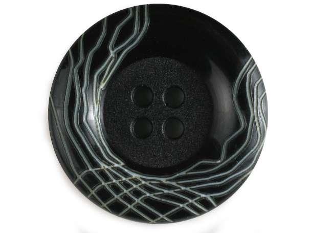 Modeknopf 18mm - schwarz