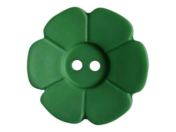 Knopf Blümchen 28mm - grün