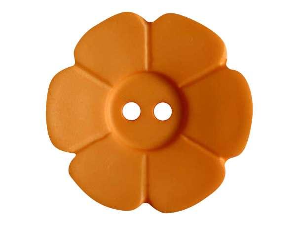 Knopf Blümchen 28mm - orange