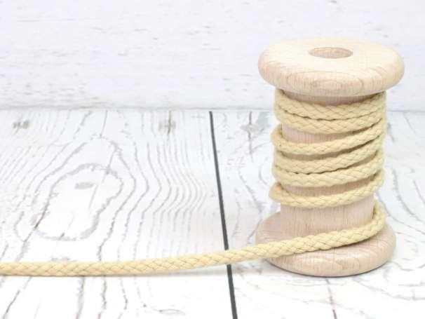 Kordel Baumwolle - 5 mm - beige