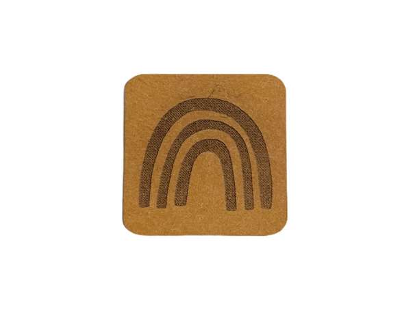 SnaPpap Label - Quadrat - Regenbogen