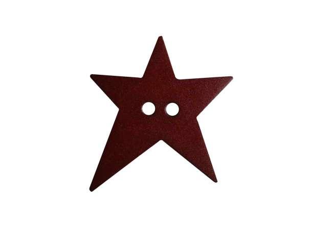 Knopf Stern 15mm - weinrot