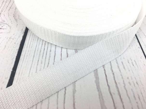 Gurtband - 25mm - weiß