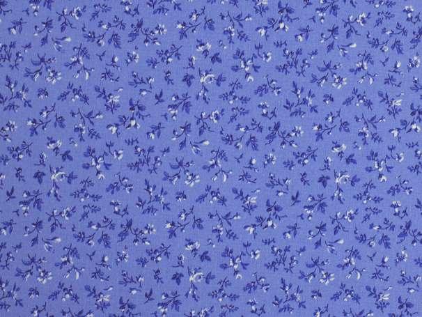 Westfalenstoffe blau - Delft - Blumenwiese