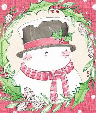 Baumwolle Stoff - PANEL - Holiday Wishes (Ausschnitt)