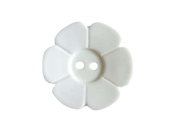 Knopf Blümchen 15mm - wollweiß