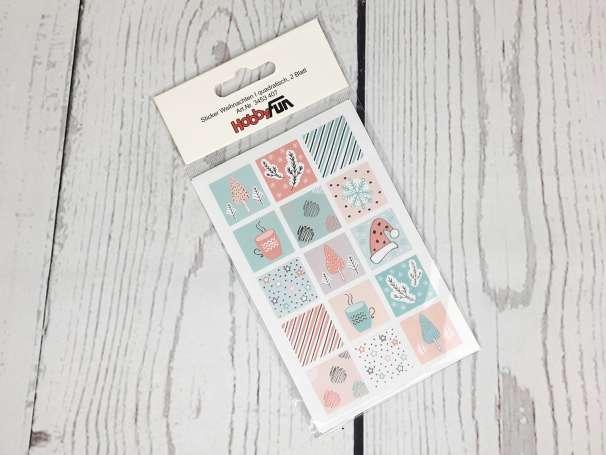 Sticker - Weihnachten I quadratisch - 2 Blatt