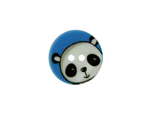 Knopf - 15 mm - Panda, blau