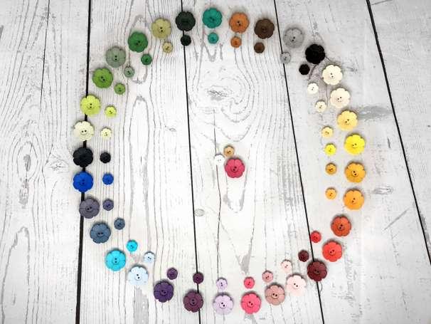 Knopf Blümchen - verschiedene Größen & Farben