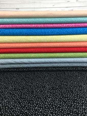 Baumwolle Stoff - Tonal Triangles - Verschiedene Farben