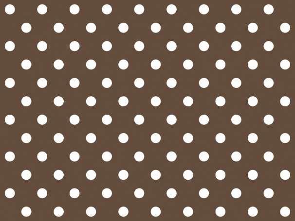 BAUMWOLLE Stoff - Punkte - dunkelbraun,weiß