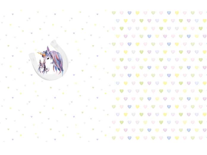 Jersey Stoff - PANEL - Lovely Unicorns