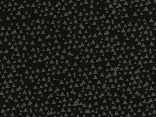 Baumwolle Stoff - Tonal Triangles Black