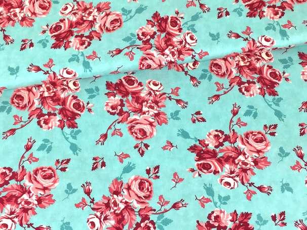 Baumwolle Stoff - Flower Bouquets