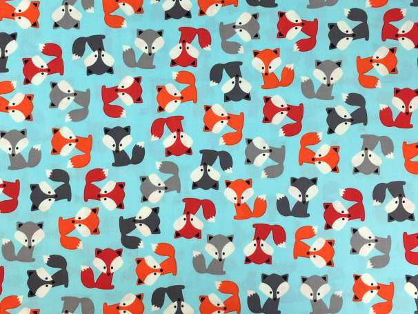 Baumwolle Stoff - Sky Foxes
