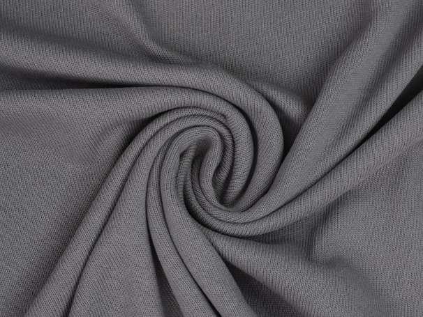 Strickstoff - Baumwolle - dunkelgrau