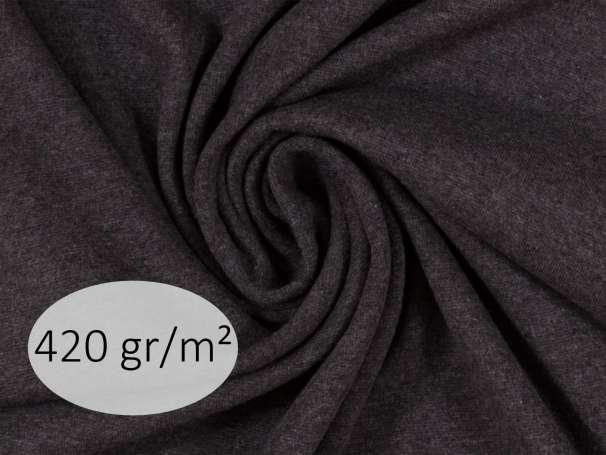 Bündchenstoff - ANTJE 420 gr. - anthrazit meliert