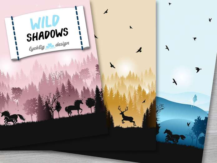 French Terry - Wild Shadows - Hirsch