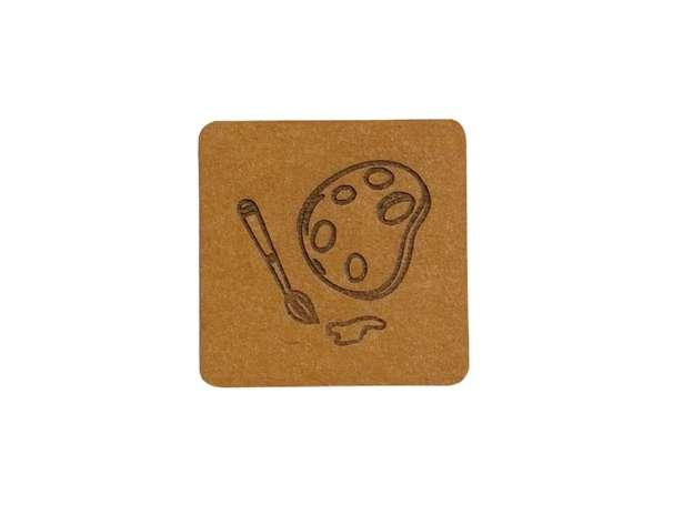 SnaPpap Label - Quadrat - Farbpalette & Pinsel
