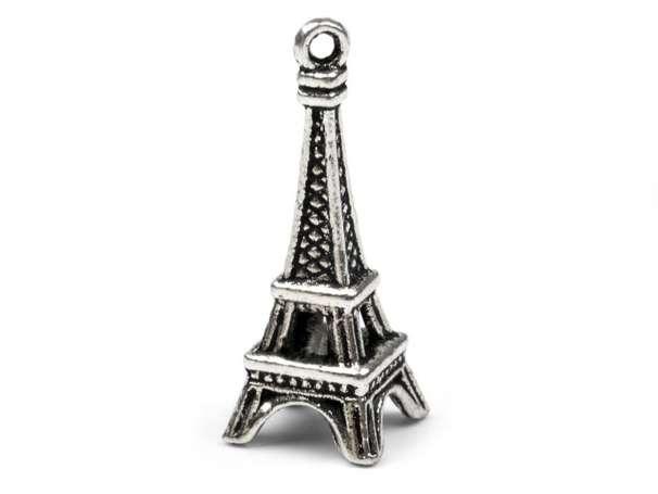 Anhänger - Eiffelturm - platin