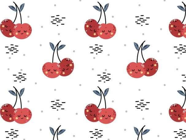 Jersey Stoff - Freche Früchtchen - Kirschen