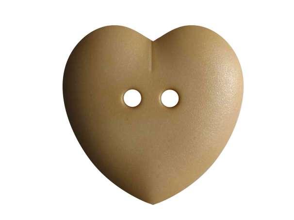Knopf Herz 23mm - beige