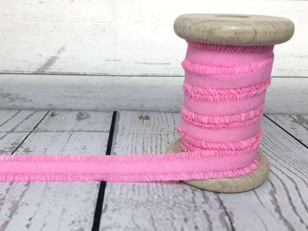 Rüschen - Gummiband - rosa