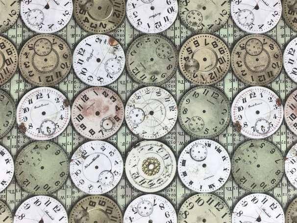 Baumwolle Stoff - Timepieces