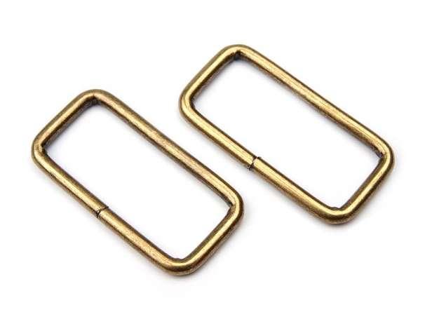 4 Vierkantringe - 32 mm - bronze