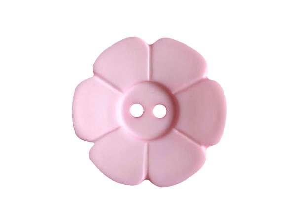 Knopf Blümchen 15mm - rosa