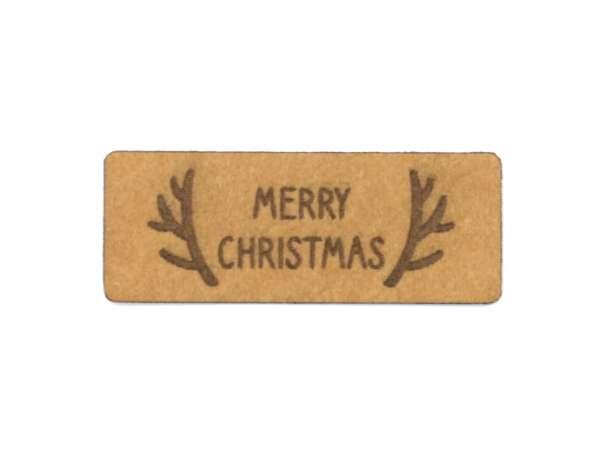 SnaPpap Label - Geweih, Merry Christmas