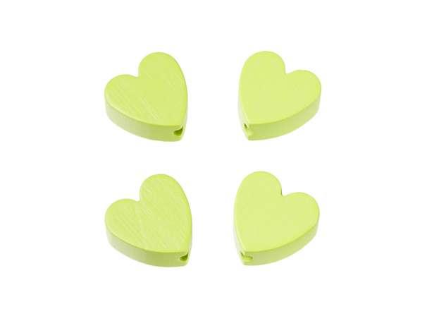 Schnulli-Herz-Perlen - 4 Stück - lemon