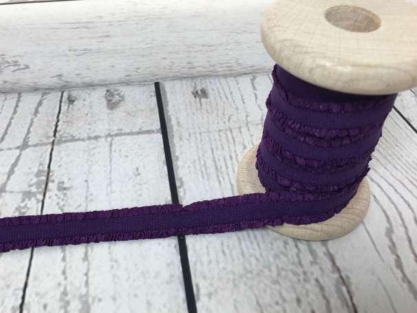 Rüschen - Gummiband - violett