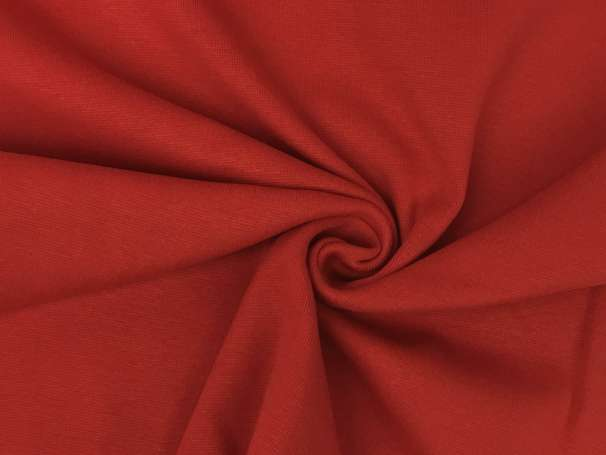 Glattes Bündchen - rot