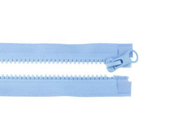 Teilbarer Reißverschluss - 75 cm - hellblau