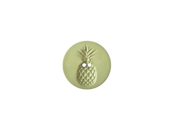 Knopf - 18 mm - Relief in Ananasform, khaki