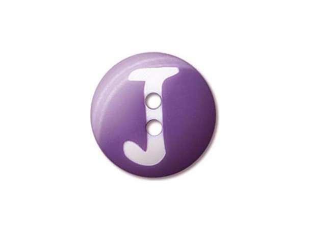 Buchstaben Knopf - Ø 20 mm - J