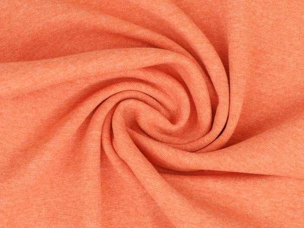 Bündchenstoff - weiß melange - orange