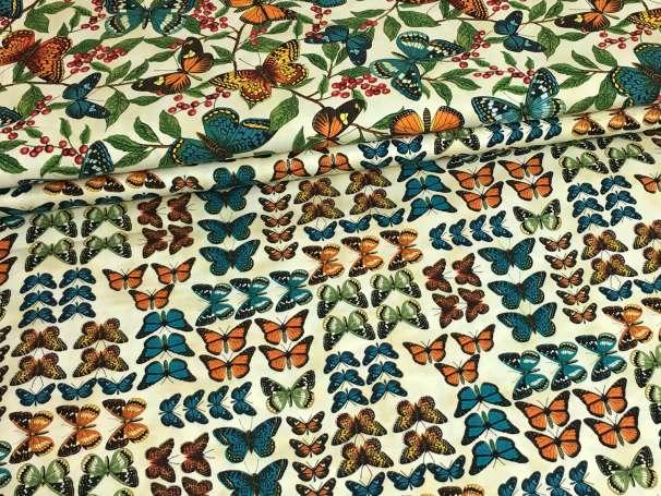 Baumwolle Stoff - Butterflies Serie