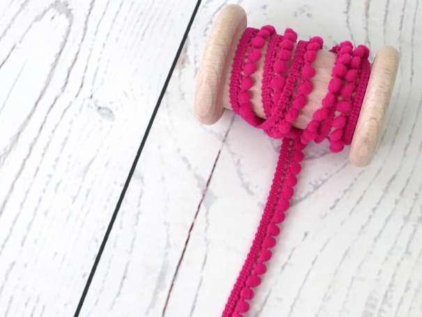 Mini - Bommelborte - 10mm - pink