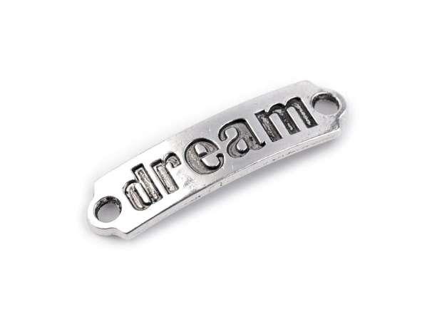 Anhänger - Metall Label - dream