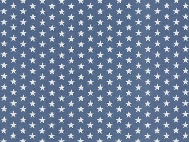 Jersey Stoff - Sterne - rauchblau