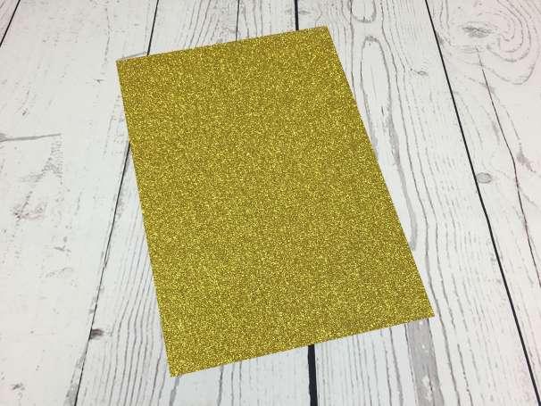 Glitzer Plotterfolie - DIN A4 - gold