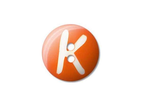 Buchstaben Knopf - Ø 20 mm - K