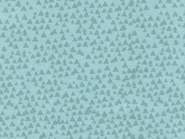 Baumwolle Stoff - Tonal Triangles Aqua
