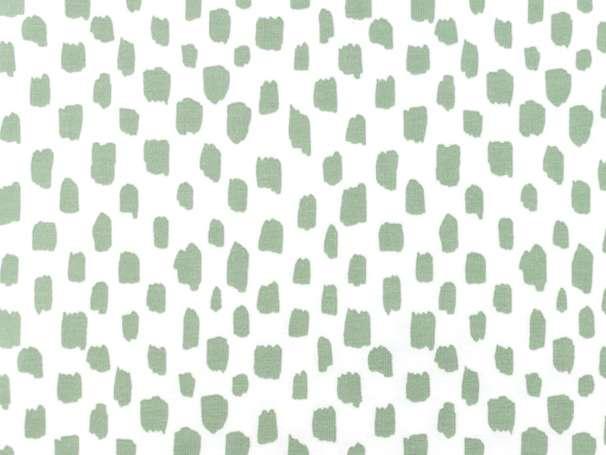 Jersey Stoff - Kurze Striche - weiß,altgrün