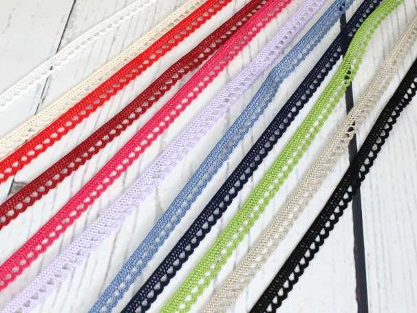Klöppelspitze Baumwolle - 10mm - verschiedene Farben