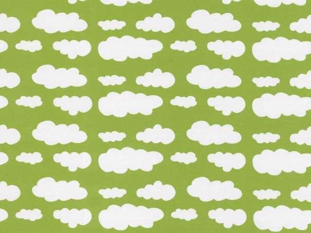 Jersey Stoff - Wolken - kiwi