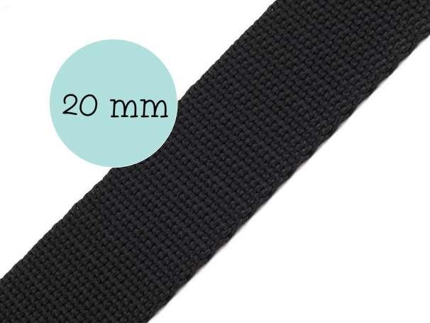 Gurtband - 20mm - schwarz