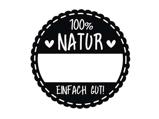 """Holzstempel """"100% Natur - Einfach Gut"""""""